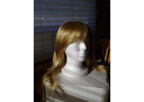Wig: Blond, Long, Layered
