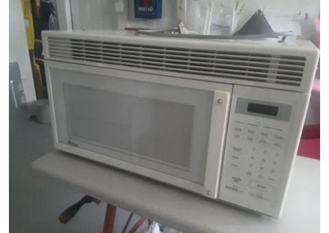 Over range microwave