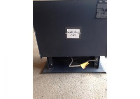 Ventless natural gas heater
