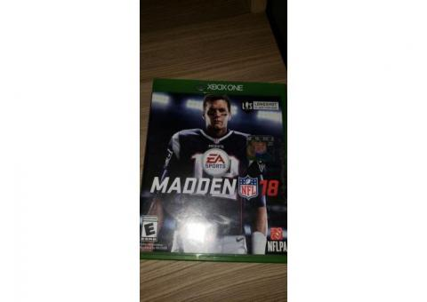Madden 2018 Xbox one