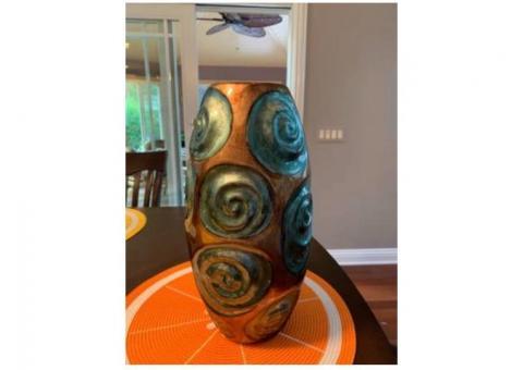 Vase bronze/teal