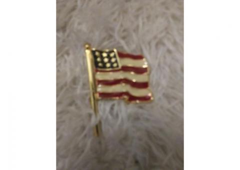 American flag monet pin