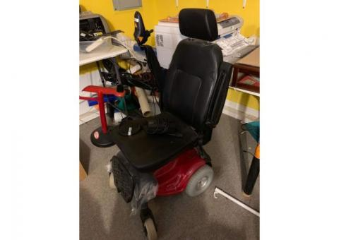 Powerchair w/ hitch ramp