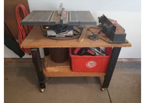 Table Saw and Planer