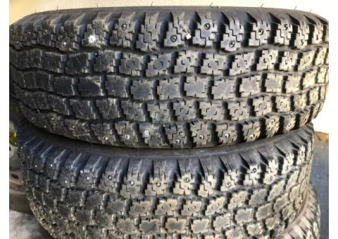 Studded Snow tires 185/70/14. $75.00