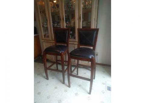 "Bar height hardwood chairs 42"" seat"