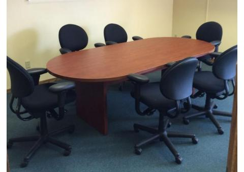 Office Conference table and six chairs
