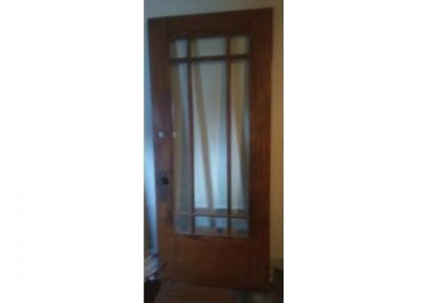 1923 oak exterior door 36X83
