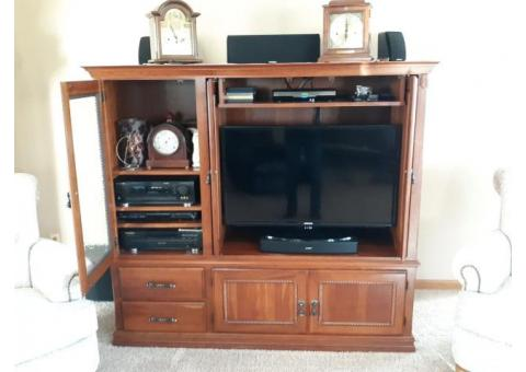 Entertainment Center Solid Cherry